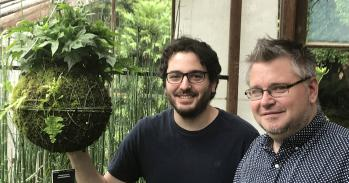 Philip Carella (left) & Sebastian Schornack (right) at the Sainsbury Laboratory, University of Cambridge