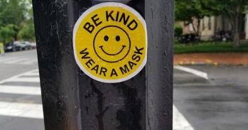 Be kind, wear a mask sticker