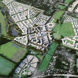 Artist's impression of the North West Cambridge Development