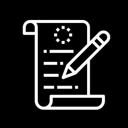 Scroll and pen icon