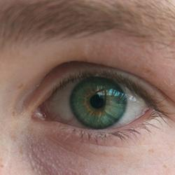 A young man's eye