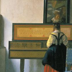 Johannes Vermeer, A Lady at the Virginals with a Gentleman 'The Music Lesson' c.1662-1665
