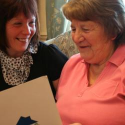 Advising older people to help them prepare for the future.