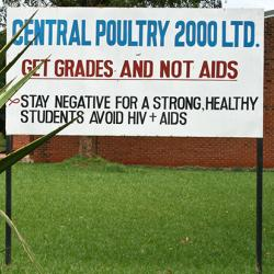 "Sign reading ""Get Grades Not AIDs"""
