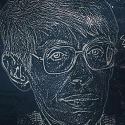 Drawing of Stephen Hawking