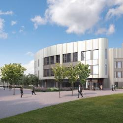 Artist's impression of the Cambridge HLRI