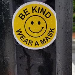 Be kind, wear a mask sticker