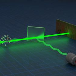 Artist's impression of a quantum metrology device