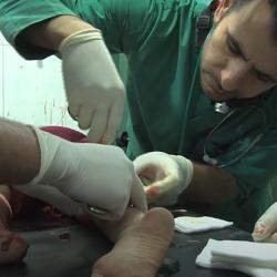 Medical workers in Syria