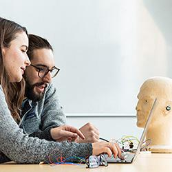 PhD students and Nokia Bell Labs earable prototype