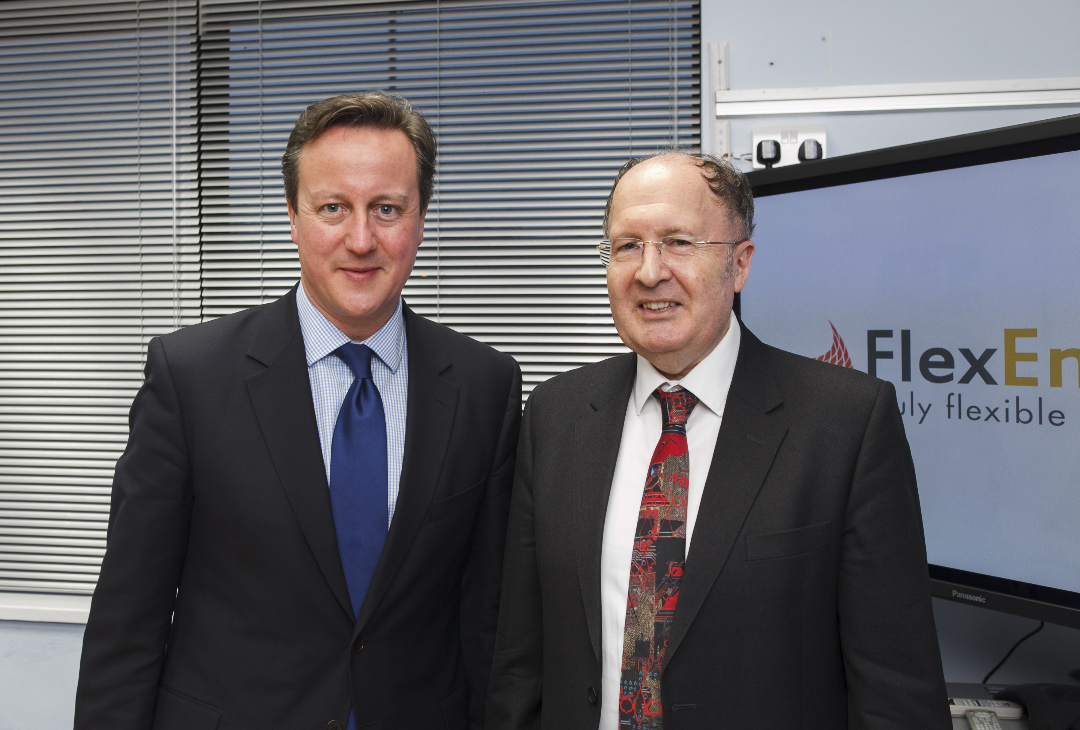 David cameron with sir gregory winter